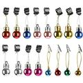 Beard Clip Jewelry 2CM Color Ball Round And Clip 12 In One Pack (A Pack Will Have 6-7 Colors As Much As Possible, But The Color Is Random)