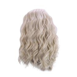 Yiwula Golden Curly Wig Long Loose Curly Long Loose Curly Wig Synthetic Wig Natural