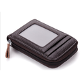 Leather Card Wallet Leather Credit Card Case RFID Credit Card Case Business Card Holder Protection Women Men 12 Compartments