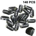 140 Piece Clips Wigs Clips U Shape Snap Clips Iron Metal Replacement Hair Clips Comb Clips for Extensions Wigs DIY Hair Extensions