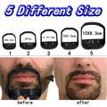 Peigne à barbe pour hommes, modèle de Guide d'outils pour hommes, moustache, barbiche, rasage, forme