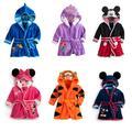 Peignoir en velours doux pour enfants, Minnie et Mickey, pyjama en corail, vêtements chauds pour