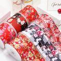 Ruban gros-grain imprimé fleur, pour bricolage, fournitures artisanales, accessoires de couture,