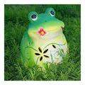 GAODINGD Garden Statue Outdoor Statues Garden Ornaments Outdoor Solar Frog Statue Garden Art Light Decoration Landscape Yard Lawn Decor Lamp Hand Crafted Gardening Ornaments Gift (Color : A)