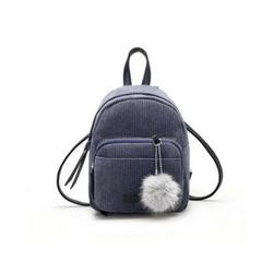 Women Mini Corduroy Backpack School Bags Solid Backpack Pendant Small Zipper Shoulder Bag Rucksack