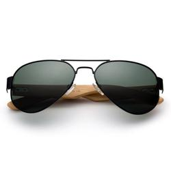 High Qaulity Polarized Sunglasses with Real Bamboo Arm Aviator Sunglasses Bamboo Sunglasses for Men & Women