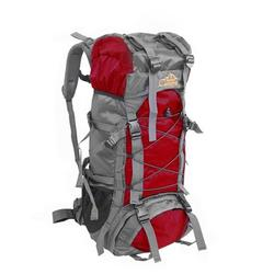 URHOMEPRO 55L Hiking Daypack, Waterproof Lightweight Camping Travel Hiking Backpack for Men Women, Outdoor Sport Daypack for Running Backpacking Climbing Mountaineering, Hiking Gear, Red, W8981