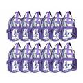 DALIX Clear Backpack for School Transparent Bags Girls Boys Purple 12 Pack