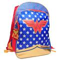 DC Comics Wonder Woman Full Size Deluxe School Bag or Travel Backpack with Detachable Cape with two Full Size Zipper Compartments 16 inches