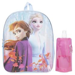Disney Frozen Backpack Combo Set - Frozen 2 Anna & Elsa 3 Piece Backpack Set - Backpack, Water Bottle and Carabina (frozen 3PC)