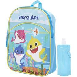 Baby Shark Backpack Combo Set - Baby Shark 3 Piece Mini Backpack Set - Backpack, Water Bottle and Carabina (Baby Shark)