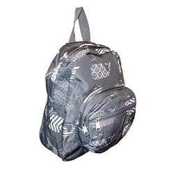 11inch Mini Backpack Purse, Zipper Front Pockets Teen Child Gray Whale