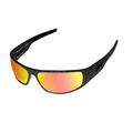 ICICLES Big Daddy Bagger Orange Lens Sunglasses with Matte Black Diamond
