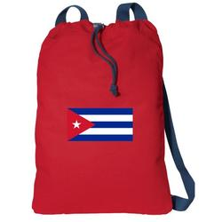 Canvas Cuba Drawstring Bag DELUXE Cuban Flag Backpack Cinch Pack for Him or Her