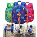 Dinosaur Children Backpack with Leash,Cartoon Dinosaur Children Backpack Cute Anti-lost Schoolbag with Safety Harness for Toddler Baby boys girls1-4 Years