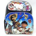 "Small Backpack - Disney - CoCo Black/Silver 12"" School Bag 004231"