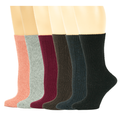 Sumona 6 Pairs Cable Knit Winter Assorted Color Boot Socks 9-11