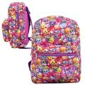 "SPK Shopkins School 16"" Backpack Kids Girls Pink Book Bag All Print Rucksack"