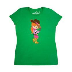 Inktastic Cowboy Girl, Girl With Cowboy Hat, Orange Hair Adult Women's T-Shirt Female