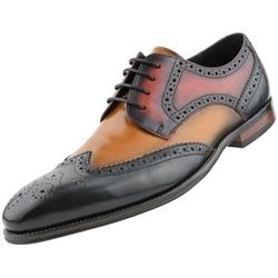 Asher Green AG3503 - Men's Dress Shoes, Genuine Leather Shoes for Men, Formal Designer Shoes - Multi Tone Dress Shoes for Men - Wing Tip Oxford Shoes