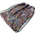 (Price/Each)U.S. Toy MX538 Rainbow Sequins Drawstring Backpack