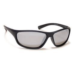 Coyote Eyewear 680562076035 P-38 Polarized Sport Sunglasses, Matte Black & Silver Frame