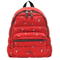 COACH Charlie Backpack With Baby Bouquet Print Backpack in Red Multi