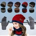 Kids Winter Gloves, Touchscreen Gloves, Warm Knit Gloves, Running Gloves, Anti-Slip Silicone Gel - Elastic Cuff - Thermal Soft Wool Lining, Winter Gloves for Girls and Boys