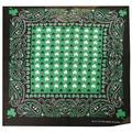 "12 Pack Paisley Black Green White Three Leaf Clover 22""x22"" 100% Cotton bandana Scarf Head Wrap Neck Headband Face Mask Bandanna"