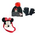 Disney Minnie Mouse Shoulder bag plush purse Minnie Mouse Soft Head cute beanie