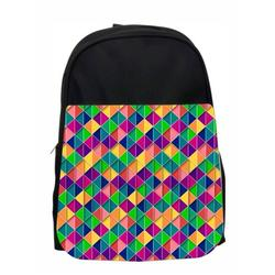 Retro Geometric Print Kids Pre-School Backpack