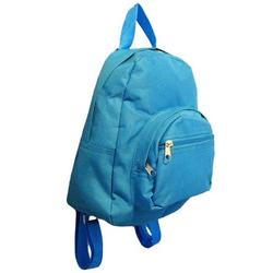 Mini Backpack Purse 11-inch, Zipper Front Pockets Teen Child (Solid Aqua Blue)