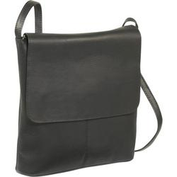 Le Donne Leather Simple Flap Over Crossbody Bag T-784