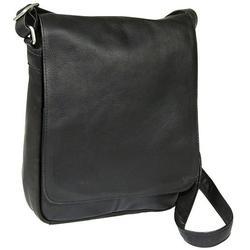 Le Donne Leather Vertical Flap Over Shoulder Bag H-149R
