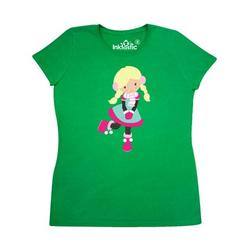 Inktastic Winter Girl, Blonde Hair, Girl With Mittens, Scarf Adult Women's T-Shirt Female