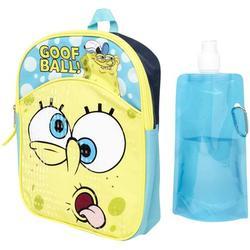 Spongebob Squarepants Backpack Combo Set - Spongebob Squarepants Boys 3 Piece Mini Backpack Set - Backpack, Water Bottle and Carabina (Spongebob Mini)
