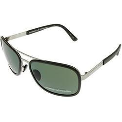 Porsche Design Sunglasses Titanium Grey/Silver Unisex P8553 D Aviator Size: Lens/ Bridge/ Temple: 59-17-135