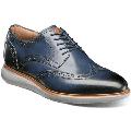 Florsheim Mens Walking Shoes Fuel Wingtip Oxford Comfort navy Blue 14238-410