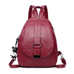 Leather Vintage Women Lady Travel Backpack Rucksack Shoulder Bag Mini Backpack Girls Backpack Fashion Backpack Lightweight School Bag