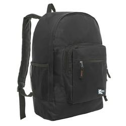 Classic Large Backpack for College Students and Kids, Lightweight Durable Travel Backpack Fits 15.6 Laptops Water Resistant Daypack Unisex Adjustable Padded Straps for Casual Everyday Use (Black)