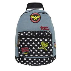 Wonder Woman backwwdenwef Wonder Woman Denim Backpack with Patches