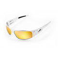 ICICLES BDB-S-03-C Big Daddy Bagger Orange Lens Sunglass with Chrome Flames