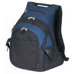 Deluxe Laptop Backpack Student Computer Bookbag School Book Bag Travel Rucksack Tablet Daypack Navy Blue