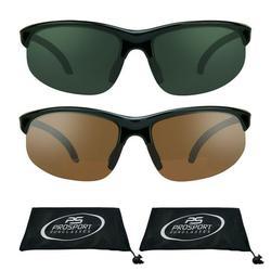 proSPORT 2 Pairs of Bifocal Sunglasses with Semi Rimless frame +1.50, +2.00, +2.50, +3.00 Sunglass Readers