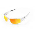 ICICLES Big Daddy Bagger Orange Lens Sunglasses with Chrome Diamond Plate