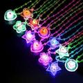 12 Crystal Light Up Necklaces LED Sparkle Plastic Necklace and Shining Pendants