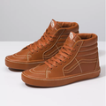 Vans SK8 Hi Leather Wrap Leather Brown Men's Classic Skate Shoes Size 5