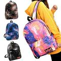Fashion Colorful Women Canvas Galaxy Backpack Pattern Outdoor Leisure Satchel School Bag Rucksack