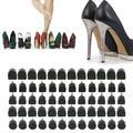 LAFGUR High Heel Tips Shoe Replacement, 60PCs (5 Different Size) High Heel Shoe Repair Tips High Heel Replacement Tips High-heeled Shoes Heel Plates High-heeled Shoes Accessories (Black)