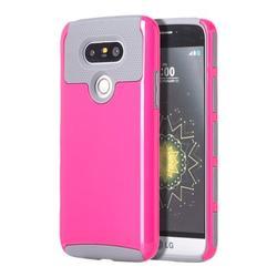 LG TCALGG5-0009-GYHP G5 Glossimer UV Coating Hybrid Case, Grey & Hot Pink